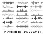 sound wave charts. voice and... | Shutterstock .eps vector #1438833464