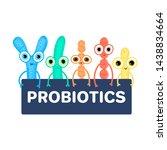 probiotics. lactic acid... | Shutterstock .eps vector #1438834664