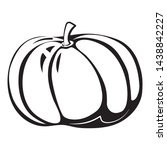 black and white autumn simple...   Shutterstock .eps vector #1438842227