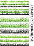 sets of seamless green grass... | Shutterstock . vector #143884537