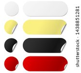 set of white round and oval... | Shutterstock .eps vector #1438851281