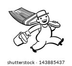 little painter   retro clip art ... | Shutterstock .eps vector #143885437