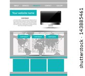 vector web site design template | Shutterstock .eps vector #143885461