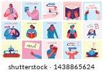 vector concept illustrations of ... | Shutterstock .eps vector #1438865624