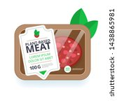 plant based meat icon.... | Shutterstock .eps vector #1438865981