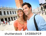 portrait of cheerful couple in... | Shutterstock . vector #143886919