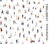 modern seamless pattern with... | Shutterstock .eps vector #1438874861