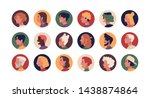 collection of round profile... | Shutterstock .eps vector #1438874864