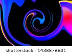 fluid abstract background.... | Shutterstock .eps vector #1438876631