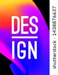 poster design concept. abstract ... | Shutterstock .eps vector #1438876637