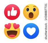 set of emoticon with flat... | Shutterstock .eps vector #1438887731