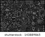 social media background | Shutterstock .eps vector #143889865
