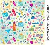 paris  fashion  pattern ... | Shutterstock .eps vector #143890885