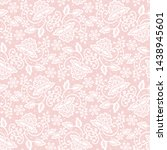Seamless Pink Lace Background...