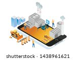 modern isometric smart factory...