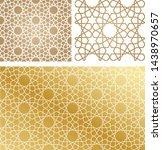 vector set of seamless mosaic... | Shutterstock .eps vector #1438970657