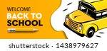 welcome back to school... | Shutterstock .eps vector #1438979627