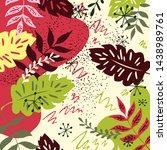 siberian leaves pattern....   Shutterstock .eps vector #1438989761