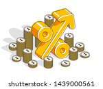 percentage rate income profit... | Shutterstock .eps vector #1439000561
