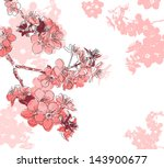 Floral Background With A Flower ...