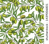 seamless pattern olives  sketch ... | Shutterstock .eps vector #1439006801
