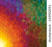 kaleidoscope geometric dark... | Shutterstock .eps vector #143902051