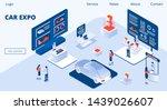 car expo horizontal banner....   Shutterstock .eps vector #1439026607