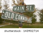Main Street And Old Common Road ...