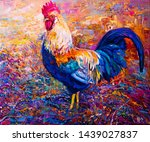 Oil Painting On Canvas. Rooste...