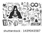 witchcraft set   witch or... | Shutterstock .eps vector #1439043587