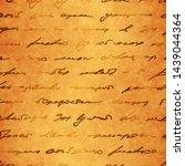 shabby manuscript. vintage... | Shutterstock .eps vector #1439044364