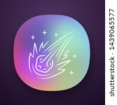 comet app icon. falling star....