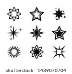 star icon set  vector design