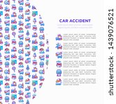 car accident concept with thin...   Shutterstock .eps vector #1439076521