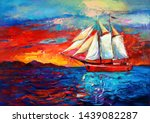 Original Oil Painting Of Sail...