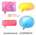 vector bright watercolor speech ... | Shutterstock .eps vector #143908234
