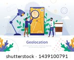 company geolocation logistics... | Shutterstock .eps vector #1439100791