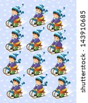 the christmas exercise   book... | Shutterstock . vector #143910685