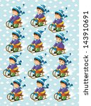 the christmas exercise   book... | Shutterstock . vector #143910691