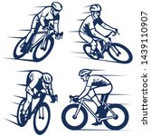 set of bicycling racer... | Shutterstock .eps vector #1439110907