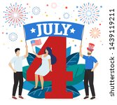 people celebrate american... | Shutterstock .eps vector #1439119211