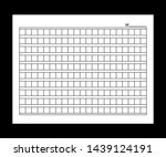 squared manuscript paper. stock ... | Shutterstock . vector #1439124191