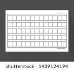 squared manuscript paper. stock ... | Shutterstock . vector #1439124194