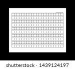10x21squared manuscript paper.  ... | Shutterstock . vector #1439124197