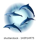 animal,aquatic,blue,concepts,cute,diving,dolphin,fin,fish,friendly,illustration,intelligence,jumping,mammal,marine