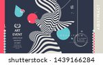 art event invitation template... | Shutterstock .eps vector #1439166284
