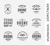collection of drone logos ... | Shutterstock .eps vector #1439174654