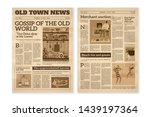 retro newspaper. daily news... | Shutterstock .eps vector #1439197364