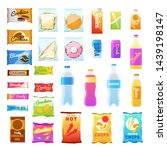 vending products. beverages and ... | Shutterstock .eps vector #1439198147