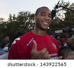 NEW YORK - JUNE 26: Oguchi Onyewu attends at The Sixth Steve Nash Foundation Showdown at Sarah D. Roosevelt Park on June 26, 2013 in New York City. - stock photo